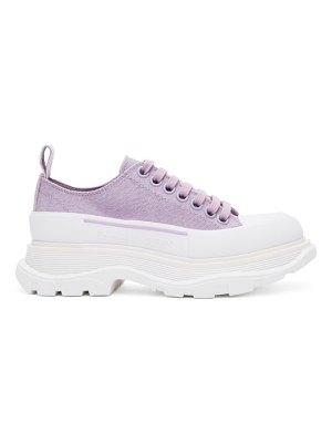 Alexander McQueen ssense exclusive purple tread slick platform low sneakers