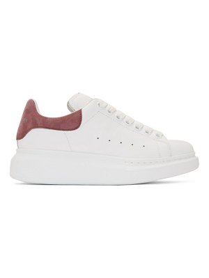 Alexander McQueen ssense exclusive white and pink oversized sneakers