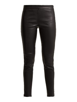 Alexander McQueen Alexander Mcqueen - Stretch Leather Leggings With Stud Detail
