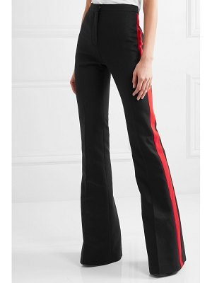 Alexander McQueen striped grain de poudre flared pants