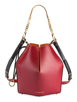 Alexander McQueen The Bucket Colorblock Shiny Calf Bucket Bag