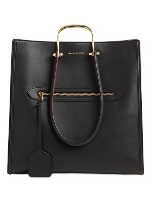 Alexander McQueen The tall story bicolor leather tote
