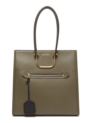 Alexander McQueen the tall story leather tote bag