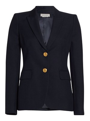 Alexander McQueen two-button cotton jacket