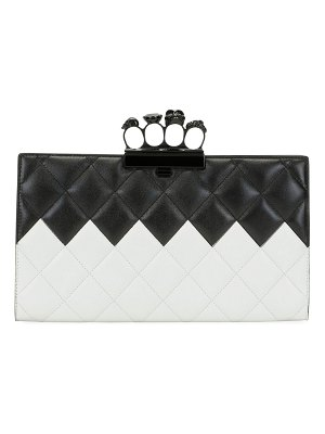 Alexander McQueen Two-Tone Four-Ring Quilted Clutch Bag