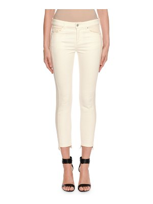 Alexander McQueen Two-Tone Patched Kickback Cropped Jeans