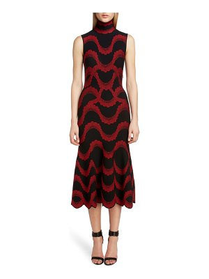 Alexander McQueen wave jacquard midi dress