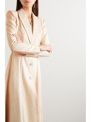 Alexander McQueen whipstitched leather coat