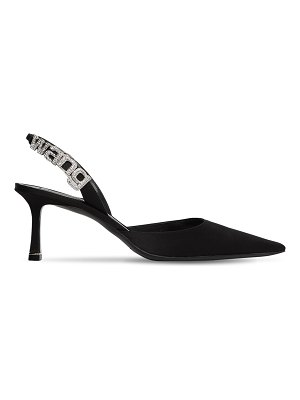 Alexander Wang 70mm grace embellished logo satin pumps