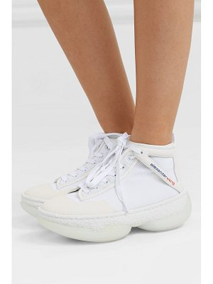 Alexander Wang a1 logo-print leather-trimmed mesh high-top sneakers