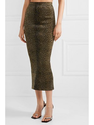 Alexander Wang animal-print chenille midi skirt