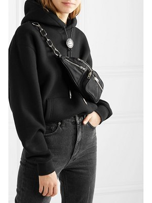 Alexander Wang attica leather-trimmed shell-jacquard belt bag