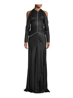 Alexander Wang Backless Silk Floor-Length Gown