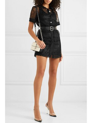 Alexander Wang belted lace mini dress