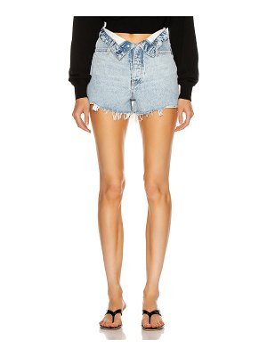 Alexander Wang bite flip high rise short
