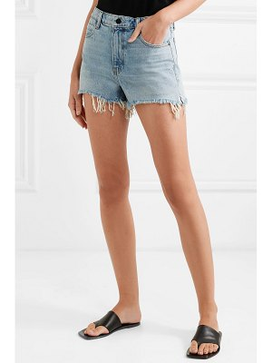Alexander Wang bite frayed denim shorts
