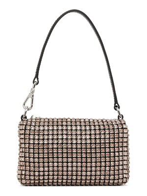 Alexander Wang black & pink mini rhinestone wangloc bag