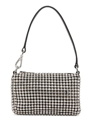 Alexander Wang black & white mini rhinestone wangloc bag
