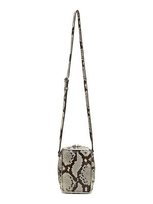 Alexander Wang black and white snake halo crossbody bag