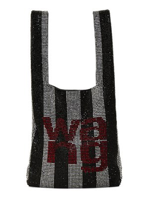 Alexander Wang black and white wangloc mini shopper tote