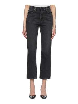 Alexander Wang black cult cropped straight jeans