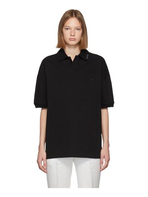 Alexander Wang black oversized heavy compact polo
