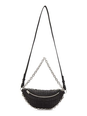 Alexander Wang black tweed hybrid attica fanny pack