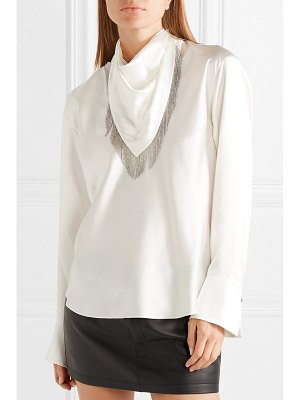 Alexander Wang chain-embellished silk-satin blouse