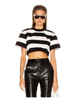 Alexander Wang chynatown stripped cropped tee