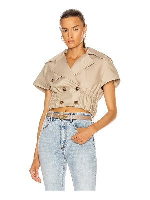 Alexander Wang cropped shirt trench jacket