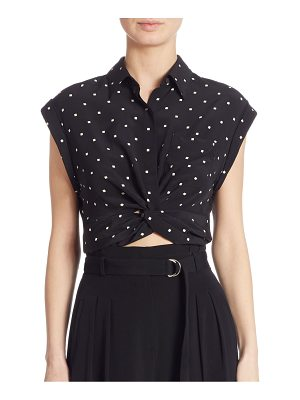 Alexander Wang Cropped Silk Shirt