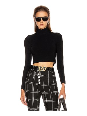 Alexander Wang cropped turtleneck pullover sweater