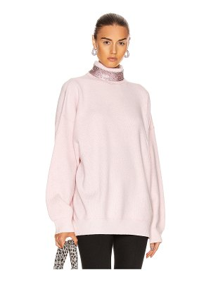 Alexander Wang crystal neck turtleneck sweater