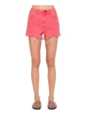 Alexander Wang Destroyed cotton denim shorts
