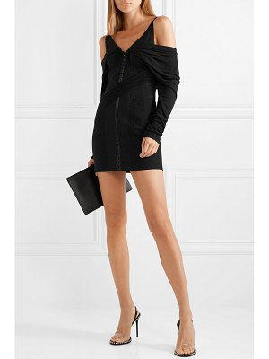 Alexander Wang draped lace and modal-jersey mini dress