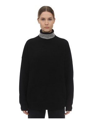Alexander Wang Embellished wool blend knit sweater