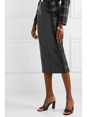Alexander Wang faux stretch-leather midi skirt