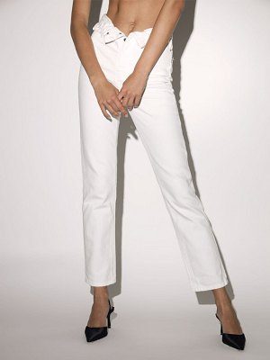Alexander Wang Folded cotton denim pants