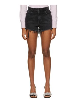 Alexander Wang grey denim bite shorts