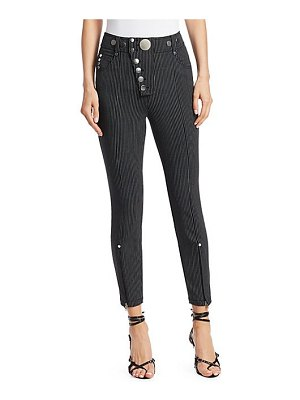 Alexander Wang high-waist multi-button stripe leggings