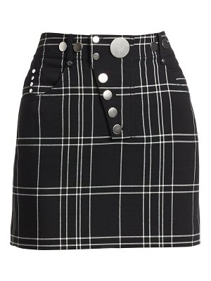 Alexander Wang high-waisted plaid mini pencil skirt