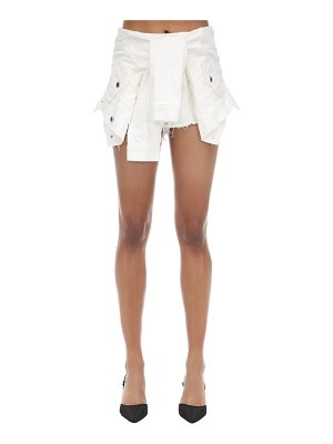 Alexander Wang Hybrid cotton denim jacket shorts