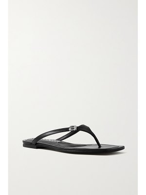 Alexander Wang ivy crystal-embellished leather flip flops
