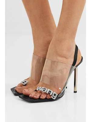 Alexander Wang kaia crystal-embellished pvc and leather slingback sandals