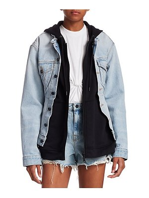 Alexander Wang layered denim jacket