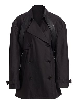 Alexander Wang leather belt collar cotton-blend trench coat