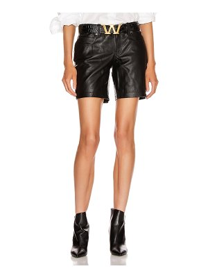 Alexander Wang leather patch short