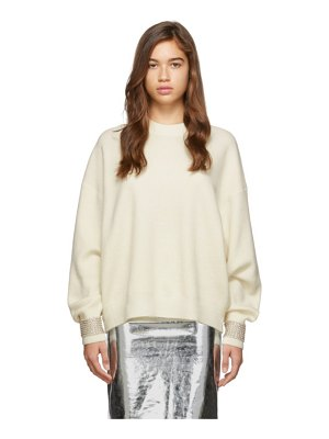 Alexander Wang off-white crystal cuff pullover