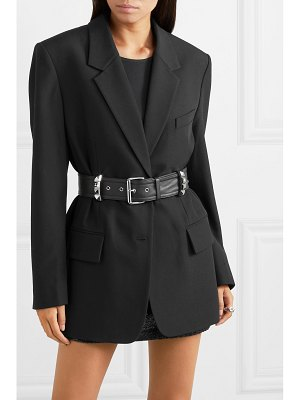 Alexander Wang oversized belted studded wool blazer