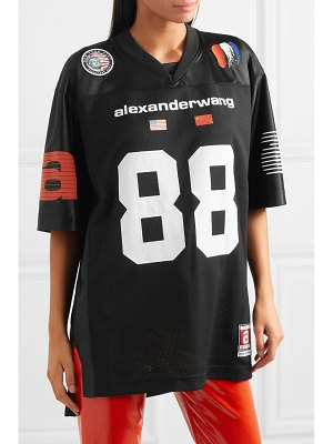 Alexander Wang oversized printed mesh and jersey top
